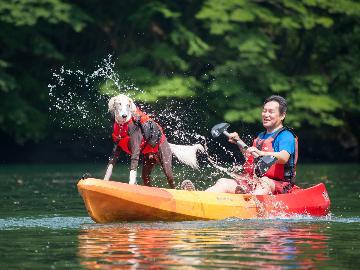 那須で自然と遊ぼう!ワンちゃんと一緒にカヌー体験♪夕食は高原野菜たっぷりのイタリアンフルコース☆