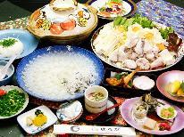 【冬期限定☆天然ふぐ会席】この値段でこのボリューム・・・大満足!から揚げ×てっさ×味噌鍋☆