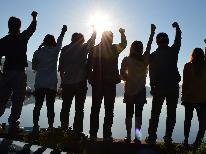 【卒業旅行】学生時代の思い出に、学生証提示で1000円OFF♪サーフィン体験割引券付き☆2食付