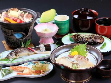 ◆スタンダード◆迷ったらコレ!おまかせ月替わり料理とpH9.9アルカリ美肌温泉☆+゜