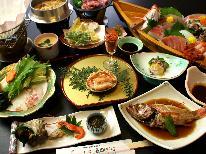 ≪b 舟盛付会席料理≫新鮮な魚介類をたっぷりご堪能♪【春はのどぐろの煮付付き】