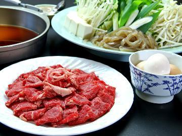 【1泊2食】ボリュームたっぷりだから満足間違いなし♪大人気すき焼き鍋コース(^^)
