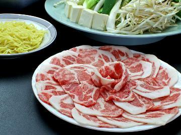 【1泊2食】健康志向の方必見!!低カロリーで低脂肪栄養満点ぼたん鍋コースルン((´I `*))♪