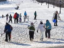 志賀高原スキー場ゲレンデすぐの宿でスキー満喫-2食付