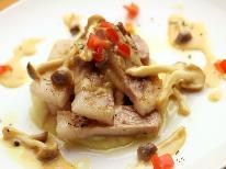 【夕食のみ付☆創作イタリアン】《鹿児島産黒豚》《薩摩地鶏》《地魚》3種のメインからおまかせコース