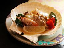 【初音~冬の膳~】メインは天然ホタテのガーリックバター焼き&鴨鍋♪和食&イタリアンのコラボ!
