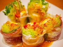 【シェフのIPPIN】旬の厳選食材~6・7月は新鮮魚介と田上産豚肉の2種生春巻き~