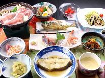 10/1~のご予約【1泊2食】鮎の塩焼き&お刺身&季節の煮魚★さらに豚ロース陶板焼きで満腹プラン♪