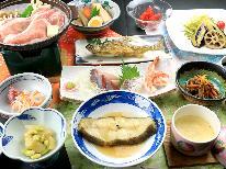 ◇【1泊2食】鮎の塩焼き&お刺身&季節の煮魚★さらに豚ロース陶板焼きで満腹プラン♪