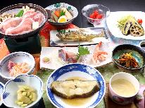 【1泊2食】鮎の塩焼き&お刺身&季節の煮魚★さらに豚ロース陶板焼きで満腹プラン♪