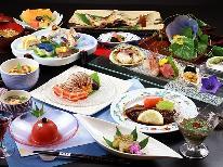 【夏の涼】~雅~夏の贅沢食材で当館最上級の特選和食膳を♪豪華食材のボリューム満点☆温泉付き客室☆