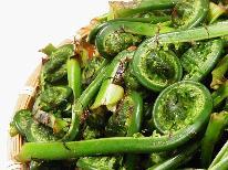 【6月限定】山の恵み♪北信州 季節の山菜料理をご提供~ワンドリンクの特典付き。1泊2食