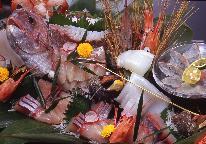 刺身皿盛りor国産和牛チョイスで選べる一品♪グレードアップコースで満腹プラン☆花火付き☆