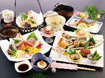 【風の舞-kaze-】◆貸別荘◆ ヒノキ風呂温泉付プライベート空間 ベーシックヘルシー会席を味わう
