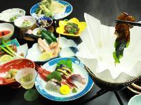 【1日4組限定】日本海の獲れたて食材を郷土料理で!☆朝食も個室で☆