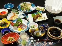 【スタンダード会席】日本海の獲れたて食材を郷土料理で!わんちゃんと一緒旅