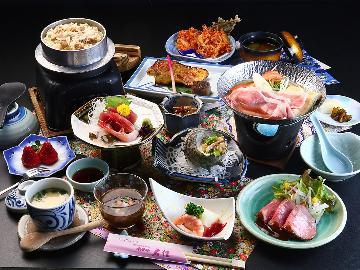 """【グレードアップ】《国産和牛》が美味◆厳選食材の魅力が詰まった""""欲張り""""会席を贅沢に食す~"""