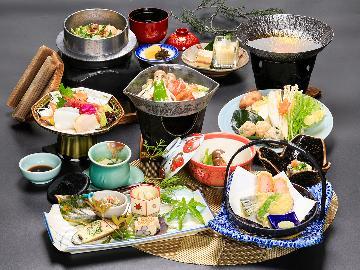 """【日帰り】忘新年会歓迎◆温泉入浴OK★""""欲張り""""会席を贅沢に食す~《夜の部》"""