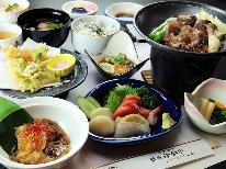 ≪摺上川コース≫旬の食材を使ったオリジナル料理と陶板料理♪100%天然温泉を楽しむ♪
