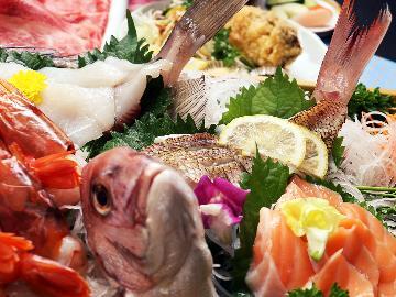 【茨城の幸!満喫!豪華船盛付】 新鮮海の幸をお腹いっぱい食べよう♪常陸牛でとあわせて満足!《民宿》