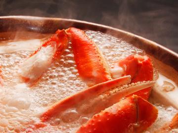 【かにすきプラン】冬の鉄板!アツアツ鍋でほっこりにっこり…^o^