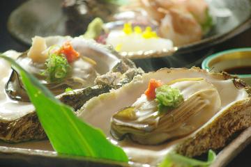 岩ガキ、あわび、サザエを食す!「夏の三大貝プラン」