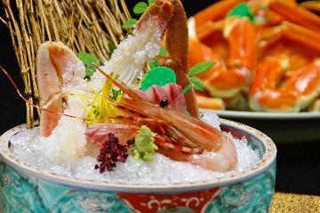 幻の蟹を食す!活松葉がに満喫プラン【静コース】