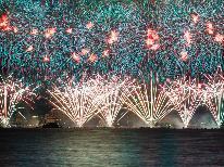 。☆諏訪湖祭湖上花火大会☆。年に一度の大花火!全国屈指の花火を見に行こう【1泊朝食付き】