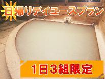 ◎【日帰り】ハイキング帰りに入浴休憩♪1日3組限定!天然温泉デイユースプラン[個室利用OK]
