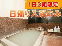 ◎【日帰り】気軽にお風呂を楽しみたい方にオススメ♪天然温泉デイユースプラン[入浴のみ]