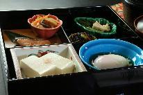 1泊朝食付きプラン(自家製豆腐や和惣菜メインの身体にやさしい献立にしております。)