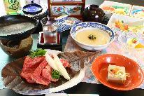 1泊2食付きプラン(夕食、朝食とも自家製豆腐中心に身体にやさしい献立です。)