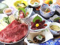 《期間限定》冬ならでは特選福島牛すき焼きを堪能♪100%源泉かけ流しの温泉で温まろう!