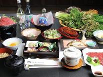 【冬季限定】 信州の冬を楽しむ♪源泉かけ流し温泉×信州牛のすき焼き鍋×ふぐのちり蒸し 《1泊2食付》