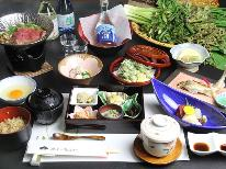 【スタンダード】こだわりの本格会席料理と良質な源泉かけ流し温泉楽しむ♪【1泊2食】