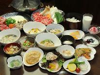 土日限定【お料理グレードUP】とちぎ郷土料理・双子鍋・とちぎ三元豚・カニ料理から選べる夕食プラン