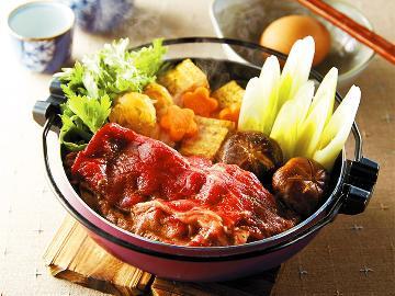 【◆定番◆若狭牛すき焼き鍋】ボリューム満点♪口の中に溢れる肉汁が堪らない!!