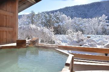 【雪見露天貸切無料プラン】雪見の露天風呂でリラックス・白い天然温泉でまったり 山里の郷土料理に舌鼓
