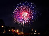 【7/30】白浜花火大会★アワビ&さざえ!さらにクエも付いた豪華会席と海辺の夜空を彩る花火♪