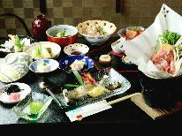 ★【スタンダード】桜の名所に建つ和風モダンな宿で四季折々の定番料理を味わう♪[1泊2食付]