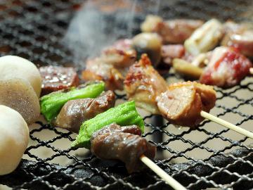 【炉端焼き味わう基本2食付】ジビエを味わう木曽の味・・・炉端で串焼き体験 《炉端焼き》