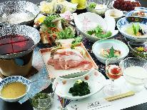 ■スタンダードA■≪米澤豚一番育ち≫をしゃぶしゃぶで!山形の恵みと天然温泉を堪能【1泊2食】