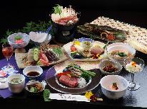 ≪雪-yuki-≫A5ランク和牛ステーキと地産の旬を彩り鮮やかに楽しむ最上級コース★お食事お部屋または個室で
