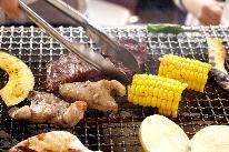 【ジビエ BBQ】食材&道具 貸出無料♪手ぶらでバーベキュー 身軽で楽しい 。1泊2食付