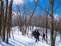 ★月山スノーシュー体験★雪上散歩を楽しもう♪〈1泊2食〉※ツアー予約必須※