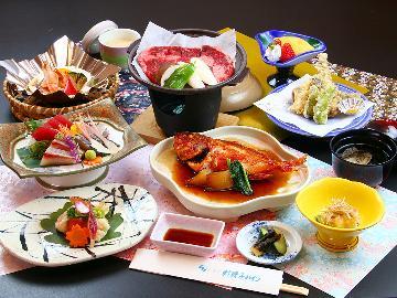 【当館イチ押し】旬の海鮮料理を味わうおすすめコース!特典付【1泊2食付】