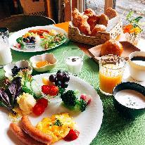 そらまめ人気の「朝ごパン」をたべよう!B&Bプラン【焼きたてパンの朝食付き】