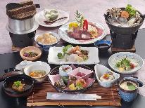 神戸牛ステーキ&県魚の浜ちゃん鍋☆懐石Aコース