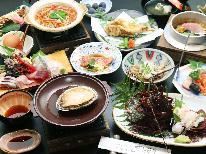【2大味覚★贅沢三昧コース】至上最大のコラボ。伊勢えび1匹&アワビ1枚&海鮮料理をご堪能