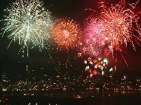 【熱海海上花火大会】送迎&観覧席付き♪約5.000発!熱海名物の壮大な大空中ナイアガラは必見!